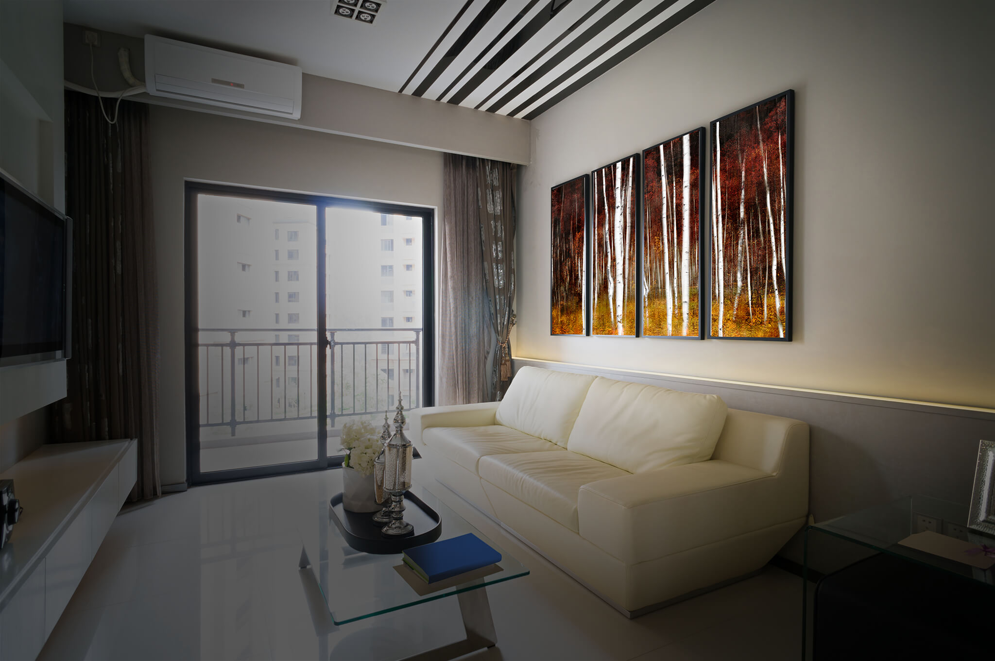 Elegant Canvas Artwork In Living Room