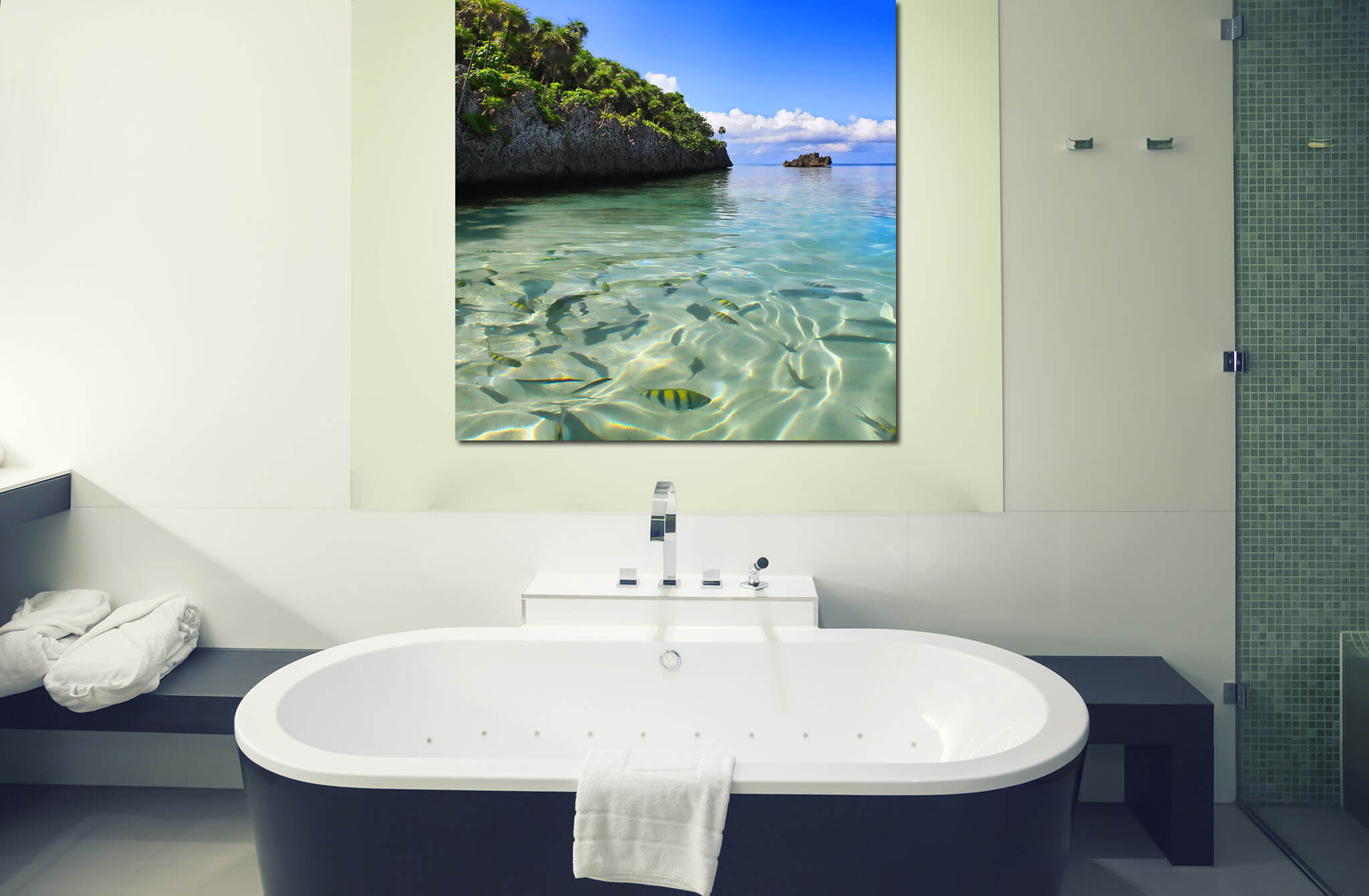 Bathroom Tropical Wall Art