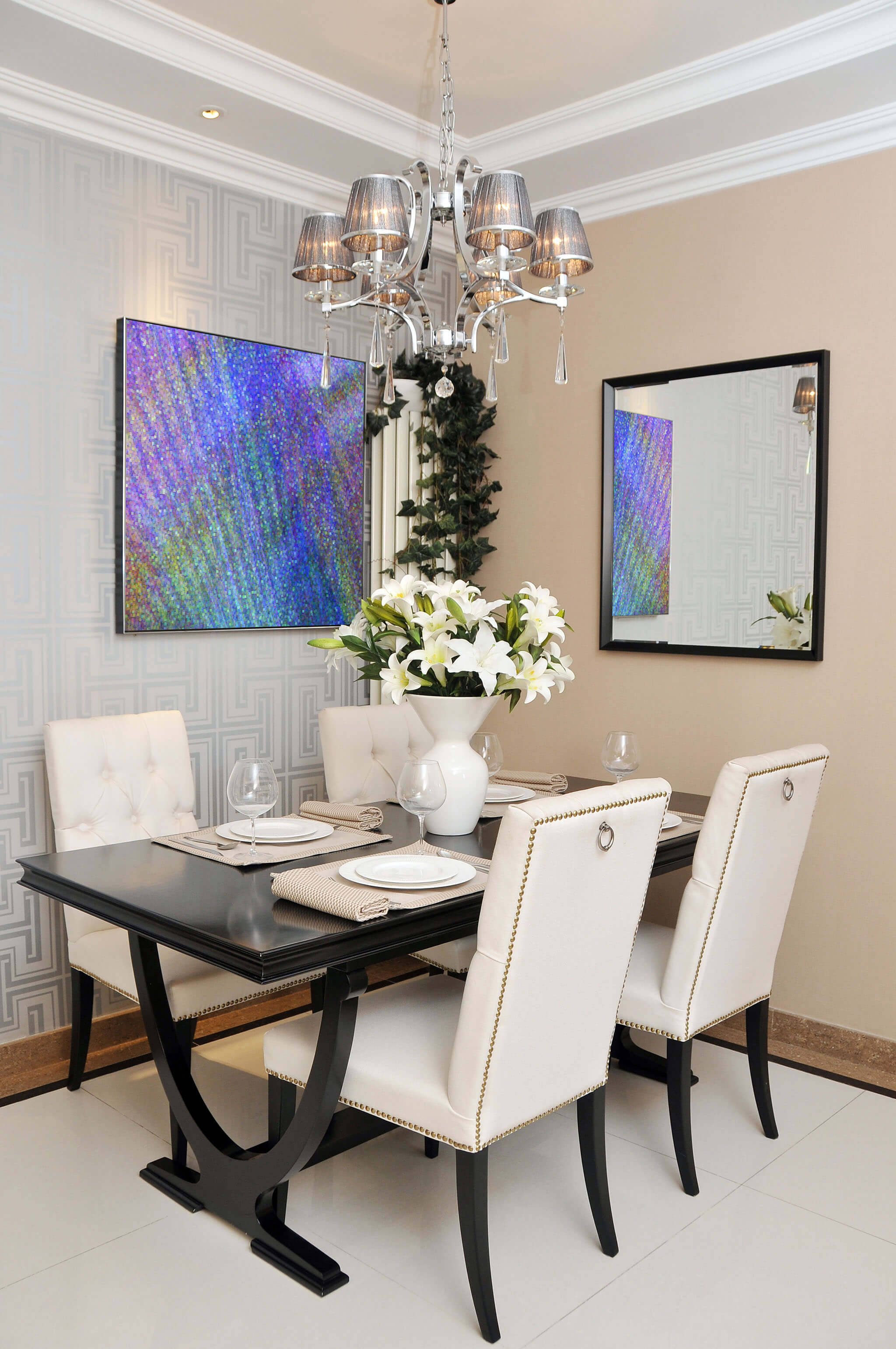 Abstract Dining Room Art
