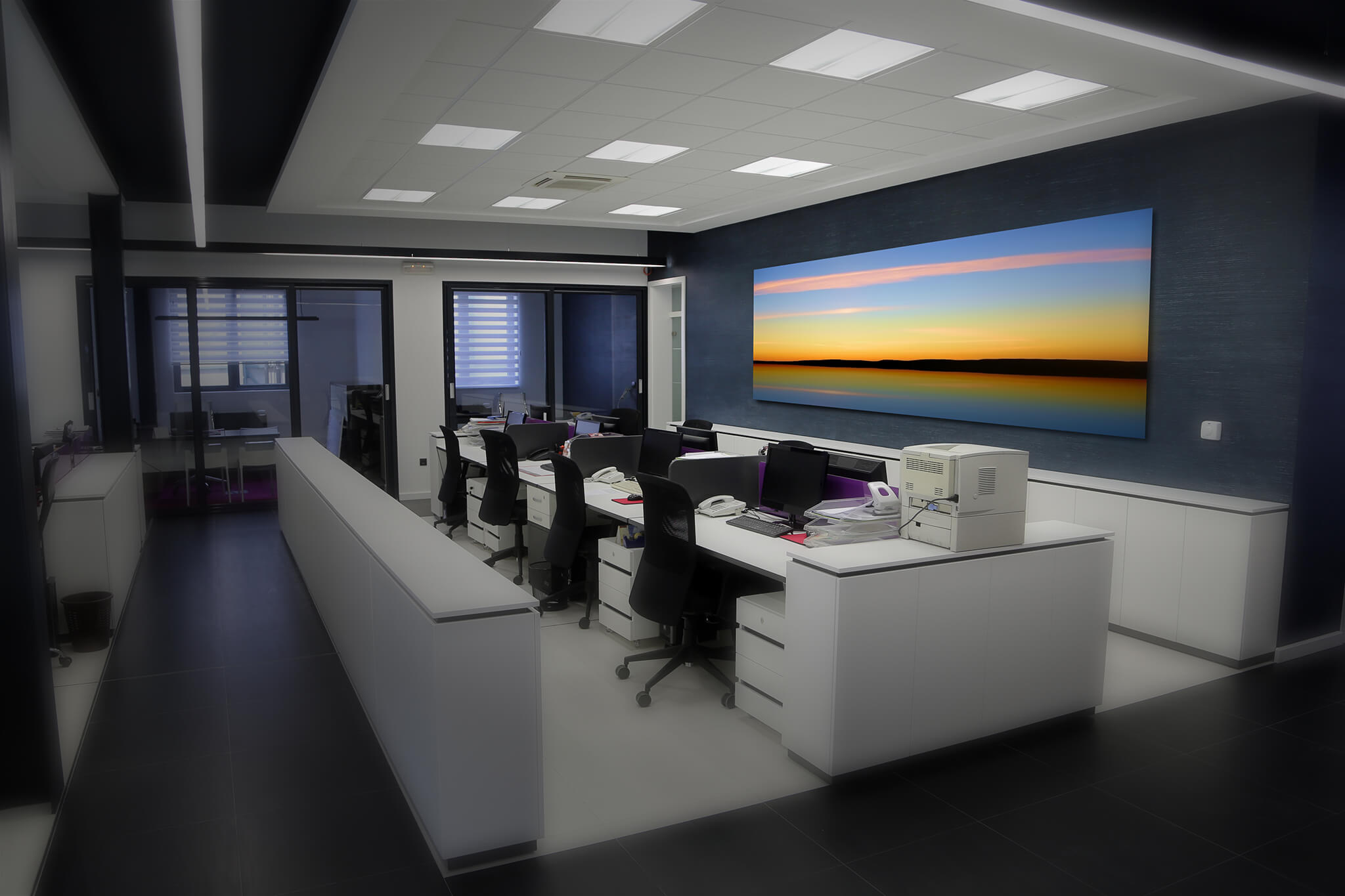 Incroyable Large Pano Office Artwork